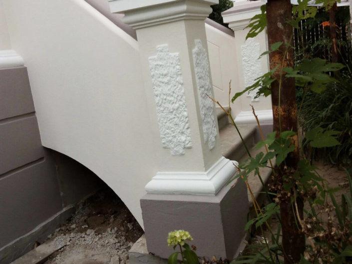 Herstellung einer Eingangstreppe
